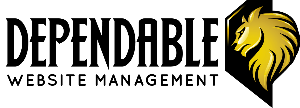 dependable website management logo